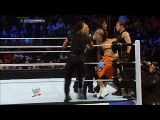 WWE Friday Night Smackdown 03.01.2014 - CM Punk & The Usos vs. The Shield